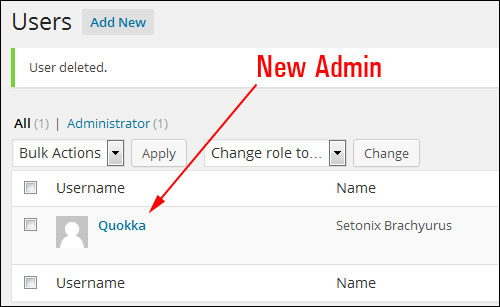 Add a WordPress Admin User via PHP